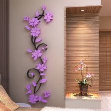3d flower beautiful diy mirror wall decals stickers