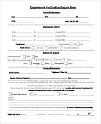 Free Employment Verification Form Template Classy Sample Employment Verification Request Forms 48 Free Documents In