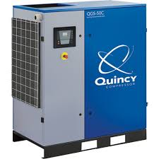 rotary screw air compressor for sale. free shipping \u2014 quincy qgs rotary screw air compressor 50 hp, 230/460 for sale l