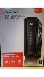 motorola cable modem. motorola arris surfboard docsis 3.0 cable modem - black (sb6121)