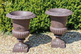 cast iron campana garden urns