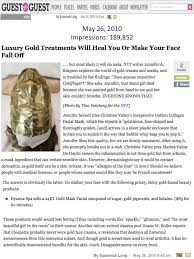 dyanna spa s gold mask featured on guest of a guest