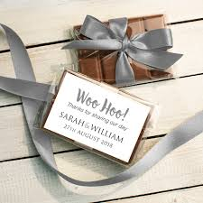 Chocolate Wedding Favours Mini Bars Quirky Gift Library