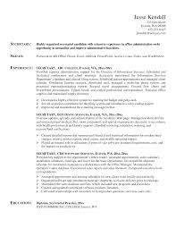 Resume Example Of Secretary Resume