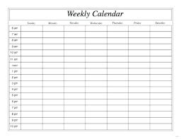 Single Day Calendar Template