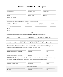 Personal Time Off Request Form Day Off Request Form Freeletter Findby Co