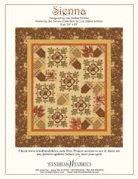 "Free Thanksgiving Quilt Patterns – BOMquilts.com & ""Sienna"" Free Thanksgiving Quilt Pattern designed by Lisa DeBee Schiller  from Windham Fabrics Adamdwight.com"