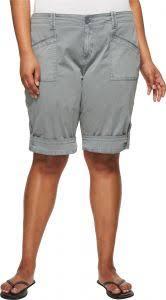 Aventura Womens Plus Size Addie V2 Short Silver Lining 22