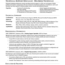 Help Desk Technician Resume Desktop Support Technician Resume Network Specialist Awesome And ...
