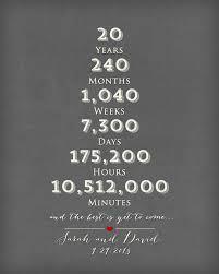 best 25 20 year anniversary gifts ideas on pinterest 10 year Wedding Anniversary Gifts Under 200 20 year anniversary gift 20th anniversary art print Gifts for Women $200