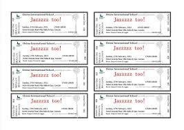 Microsoft Word Event Ticket Template Microsoft Word Ticket Template Template 1