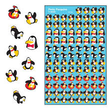 Perky Penguins Supershapes Stickers