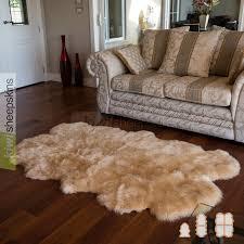 spring lamb lambskin rug 4 pelt quarto in honey color