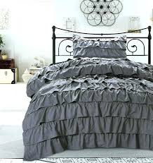 ruffle comforter twin xl grey bedding full ruffle comforter