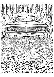 Small Picture Supernatural Coloring Book Color Your Own Castiel Fangirl Quest