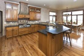 black granite countertops are sleek and elegant
