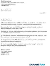 Word / pdf télécharger : La Lettre De Candidature Par L Exemple Jobat Be