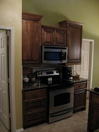 42 Inch Kitchen Cabinets Cooking Area With Range 42 Inch Upper Cabinets Create Tower Effect