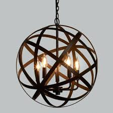 chic idea sphere light fixtures metal orb chandelier world market wood and