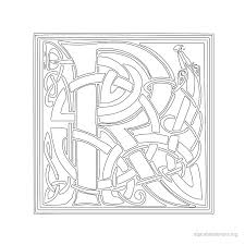 celtic alphabet stencil r