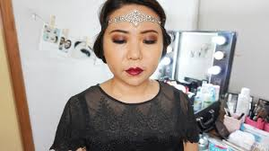 easy 1920s gatsby inspired vine makeup tutorial with makeup revolution palette flawless matte