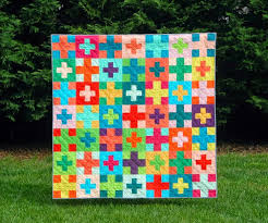 117 best Plus Quilts images on Pinterest | Patchwork quilting ... & Plus Plus - a Digital pdf Quilt Pattern - Baby, Lap, and Queen Sizes c Adamdwight.com