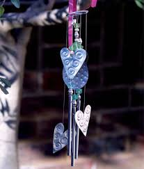 Recycled craft wind chimes dremel tool