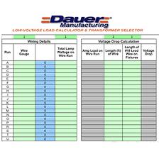 Free Voltage Drop Calculator Dauer Lampen