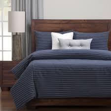 siscovers havenside home carrabelle luxury cotton blend burlap indigo down alt duvet cover set com
