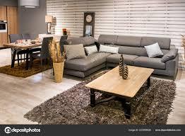 Geräumige Offene Küche Esszimmer Und Wohnzimmer Interieur
