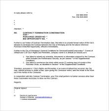 Letter Of Termination 7 Download Free Documents In Word Pdf