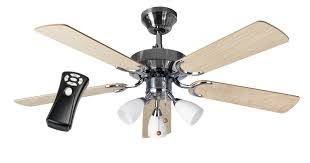 eurofans new jersey 42 stainless steel ceiling fan light remote control 509388