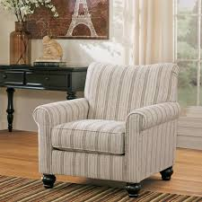 signature design by ashley milari linen maple striped accent chair striped accent chair g57