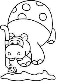 Our Hippo Coloring Pages May Be Used For Your Personal Non