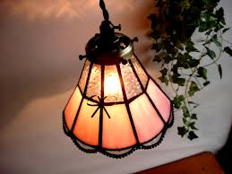 fairy tale retro antique stained glass pendant lamp pink 111 light fixture brass color ruffled e17 modern french country glass lighting pendant lights