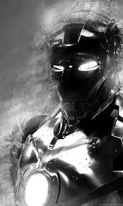 Iron man poster, iron man, black, blue, minimalism. Iron Man 3 Black And White Hd Wallpaperdesktop Wallpapers Free Desktop Background