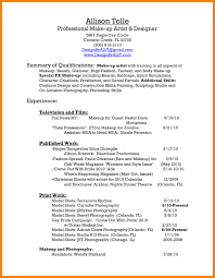 Artist Resume Sample Makeup Artist Resume Sample Monster Com Templates Solagenic Makeup 82