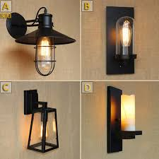 cheap outdoor lighting fixtures. Antique Matte Black Lantern Outdoor Wall Lamp Sconce AC 90260v Metal Vintage Industrial Loft Edison Bulb Lighting Fixtures Cheap I