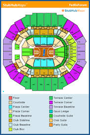 Fedexforum Seating Chart With Seat Numbers Fedex Forum Seat View Fedex Forum Terrace Level Fedex Forum