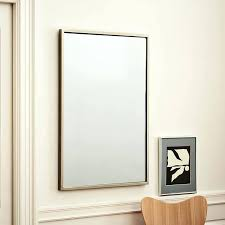 framed modern mirror. Viewing Photos Of Long Rectangular Wall Mirrors Showing Metal Framed Mirror West Elm Pertaining To . Modern D