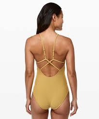 Lululemon Bathing Suit Size Chart Lululemon Poolside Pause One Piece Vintage Gold