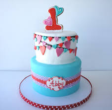 Decorated Birthday Cakes Montreal Confections Heart Themed First Birthday Cake