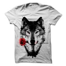 Wolf Design Sweatshirts Black Rose Wolf Design