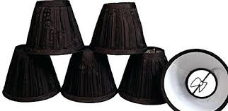6 chandelier shades creative hobbies black pleated fabric candle lamp chandelier shades clip on bulb pack