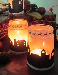 Decorated Jam Jars For Christmas Christmas Night Light Holders From Jam Jars 62