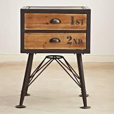 Loft Iron Wood Lockers Locker American Fashion Creative Home In Wrought  Iron And Wood Nightstands