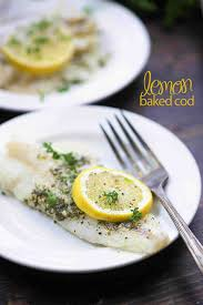 Lemon Baked Cod Recipe - perfect for a ...