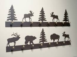 Western Coat Rack Bear Pine Eld And Moose Coat Racks For A Log Cabin Retreat Cabin 33