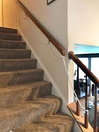 Stair handrail brackets from home depot are sold separately from the handrails themselves, so the first step is to ensure that you've purchased enough brackets to accommodate the handrail length. Diy A Toddler Rope Railing Fort Birthday