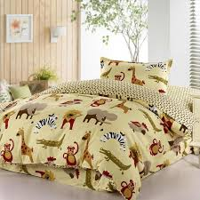 kids cartoon animal reactive printing comforter bedding sets 3 or 4 pieces zoo at home 100 cotton twin size reversible duvet cover flat sheet pillow